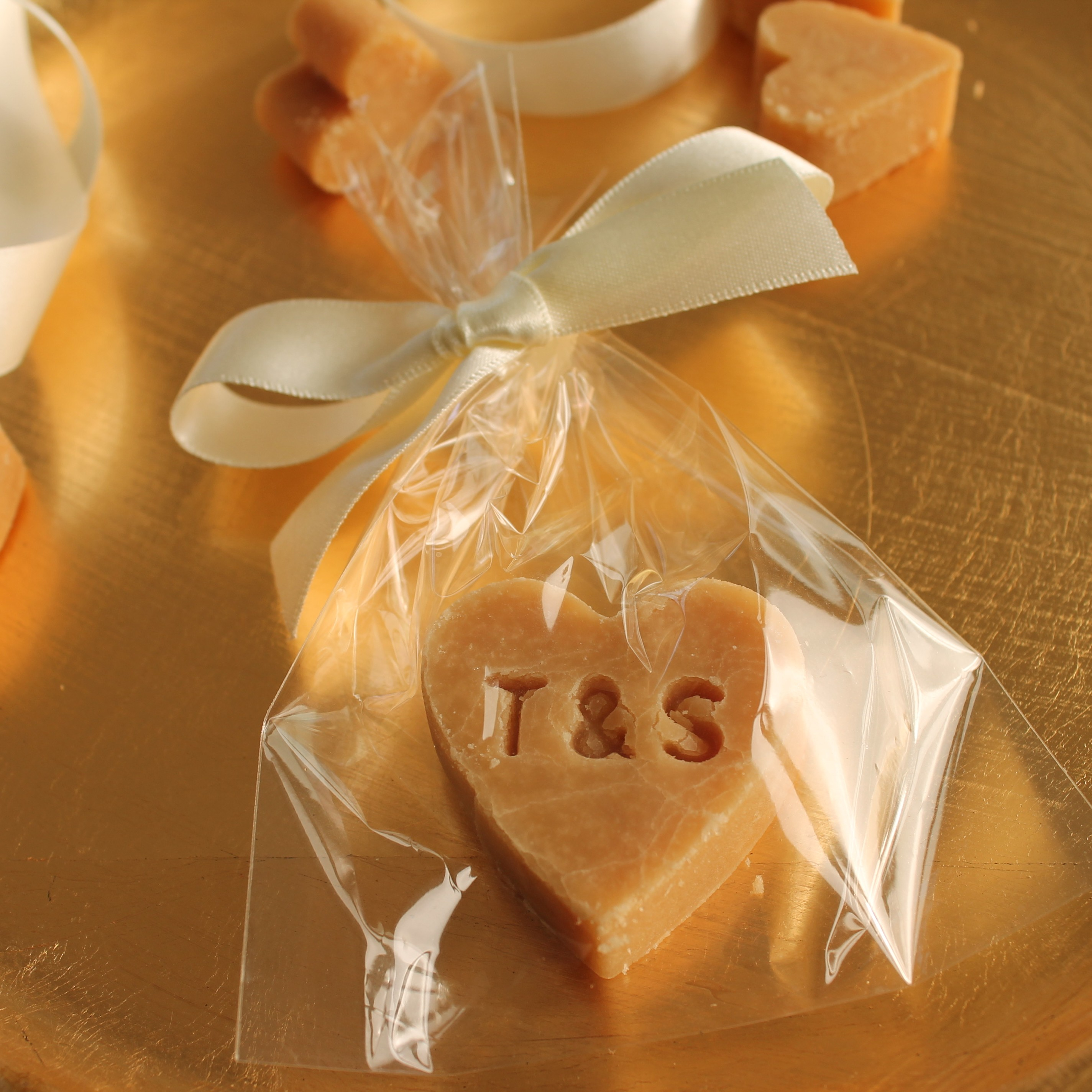 Initialled tablet heart wedding favour gift